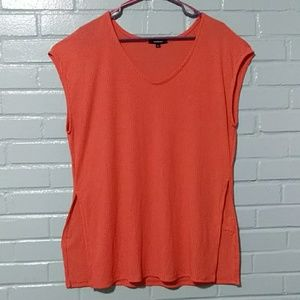Ambiance melon colored top 1XL